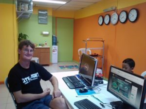 Global Office Works' President and CEO, Rodney Allen, in their 2012 office.